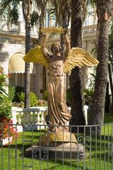 bronze statue of an angel