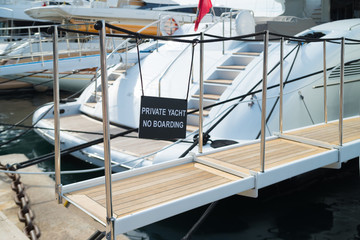 gangway of a yacht