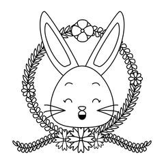 cute rabbit face cartoon