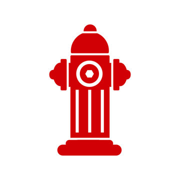Red fire hydrant icon isolated – stock vector