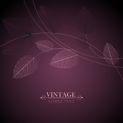 Abstract luxurious vintage floral background with shining leaves. Invitation to the wedding ceremony, congratulations.