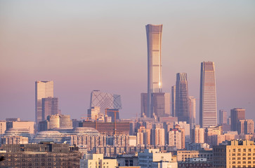 Many building is the city landscape.  From the Jingshan park.