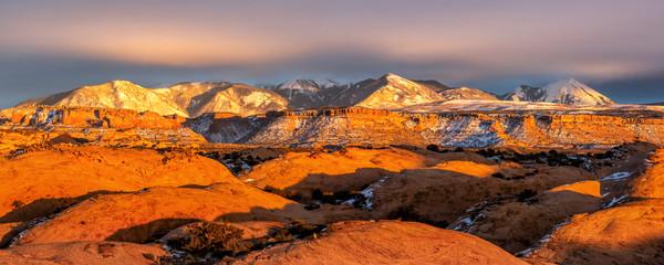 Sand Flats Golden Hour Panorama