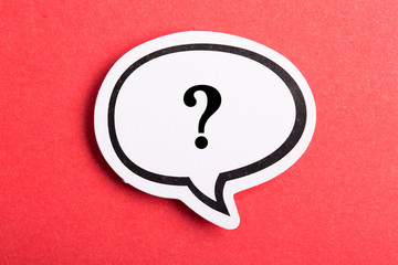 Question Mark Speech Bubble Isolated