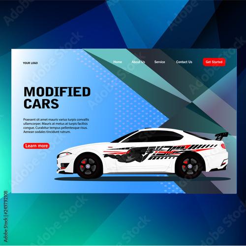 modern futuristic template concept sticker decal race contest car