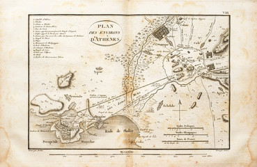 Old Map Of Athens Area
