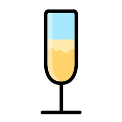 Isolated cocktail glass icon. Vector illustration design