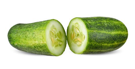 cucumber isolated on white clipping path