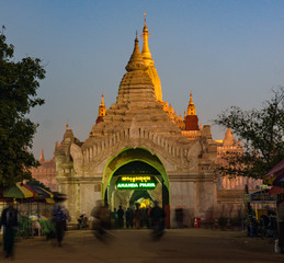 entrance to Ananda Pagoda at dawn