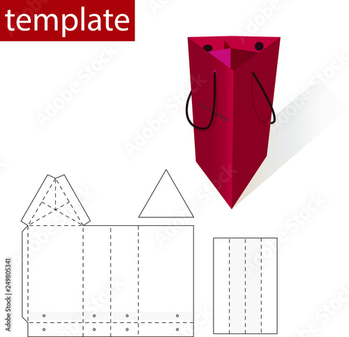 Retail Bag or Box with Die Cut Template