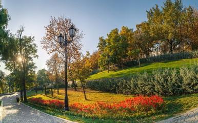 Istambul Park in Odessa, Ukraine at fall