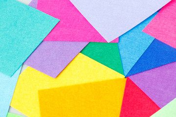 a set of colored sheets of felt, rainbow colors