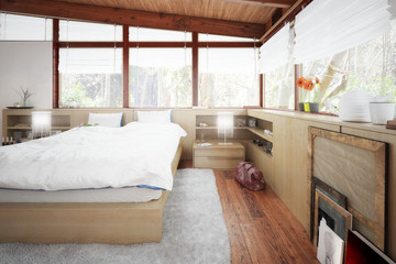 Patioausbau zum Schlafzimmer - 3d Visualisieurng