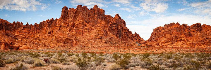 Foto op Aluminium Rood traf. Valley of Fire Sandstone Mountain Landscape