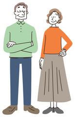 高齢者 シニア 老夫婦