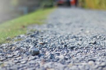 gray granite gravel walking way