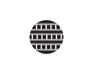 film strip  icon vector illustration template