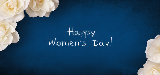 Panoramic greeting card 8 March Happy Women's Day