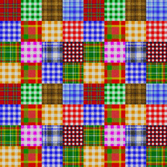 Patchwork of Plaid and Gingham