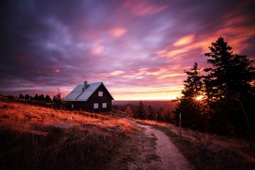 Sonnenaufgang an der Hornisgrinde Fotoväggar