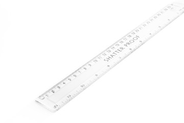 Concept measure tool, ruler measurement isolated on white background