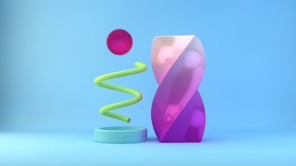 Abstract Geometric Illustration