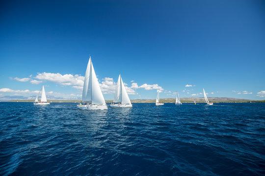 Sailing yachts regatta competition
