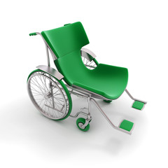 Green modern wheelchair