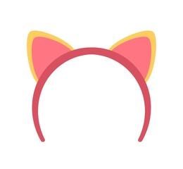 ネコ耳付きヘアバンド