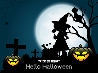Halloween background with Hello Halloween text