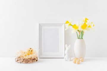 Home interior with easter deco