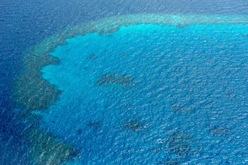 Nothing at all in the turquoise maldivian sea