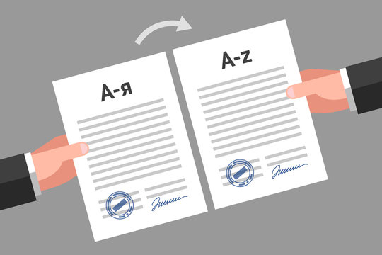 Documents translation concept