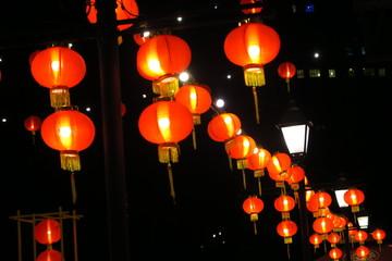 Lanternes rouges de nouvel an chinois