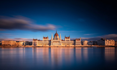 The Hungarian Parliament in sunset