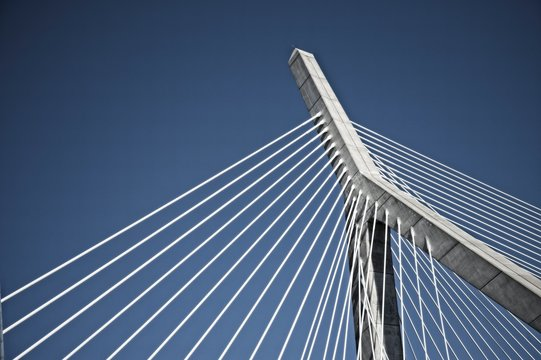 View of a landmark bridge in Boston Massachusetts