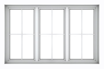 Plastic window frame