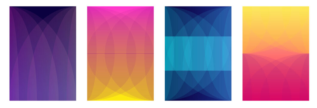 Set of A4 covers with abstract shapes.