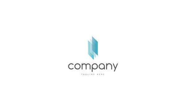 Glass 2 company abstract blue vector logo image