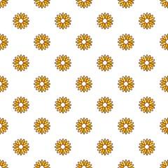 Honey plant pattern in cartoon style. Seamless pattern vector illustration