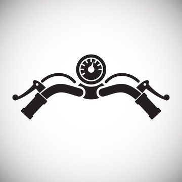 Motorcycle bar icon on white background for graphic and web design, Modern simple vector sign. Internet concept. Trendy symbol for website design web button or mobile app