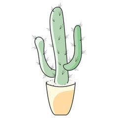 Icon cactus. Vector illustration on white background
