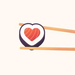 Heart sushi roll