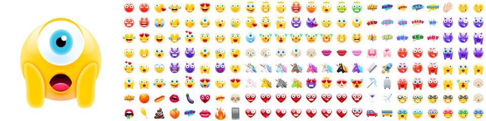Set of Modern Realistic Emojis