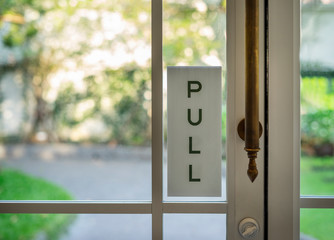 Pull sign restaurant, store, office or other