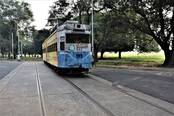 TRAM -ON KOLKATA ROADS , ONE OF THE HERITAGE OF THE COUNTRY AND THE CITY TOO
