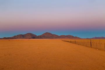 Bare landscape in the dry desert