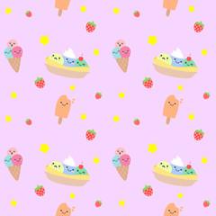 seamless pattern ice cream