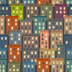 Seamless texture of urban homes.
