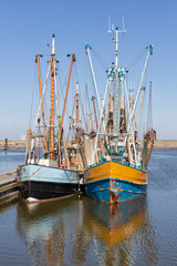 Prawn fishing boats in Dutch harbor Lauwersoog
